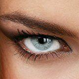 Farbige Jahres-Kontaktlinsen Naturally SWEET GRAY-GREEN - in GRAU-GRÜN - von LUXDELUX® - (-4.25 DPT in Minus)