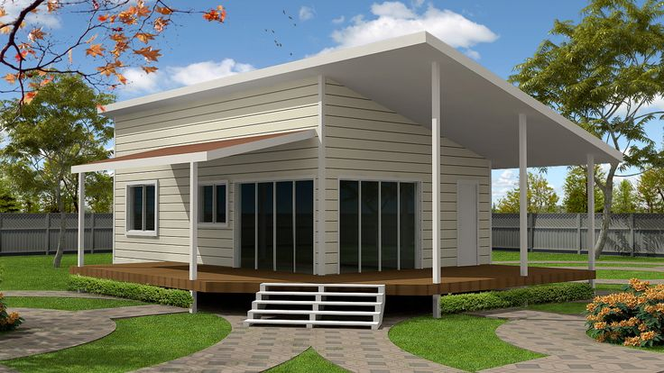 Cream white and timber colorbond and fibro cladding pole for House plans with granny flat
