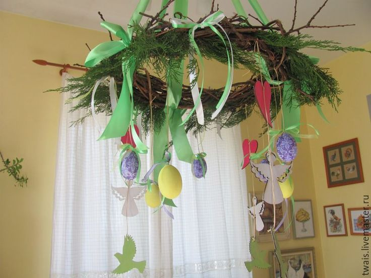 Купить Венок подвесной для интерьерных композиций - венок из лозы, венок подвесной, декор дома