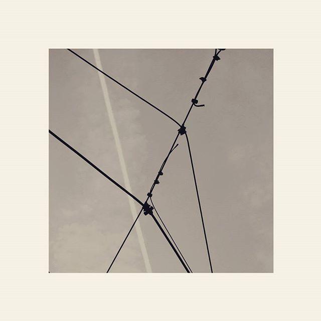 #lines #net #web #sky #blackandwhite #bw #photography #square #bologna #bolognacittà #bolognaart #rete #ragnatela #sky #eos7d #spider #ragno #scie