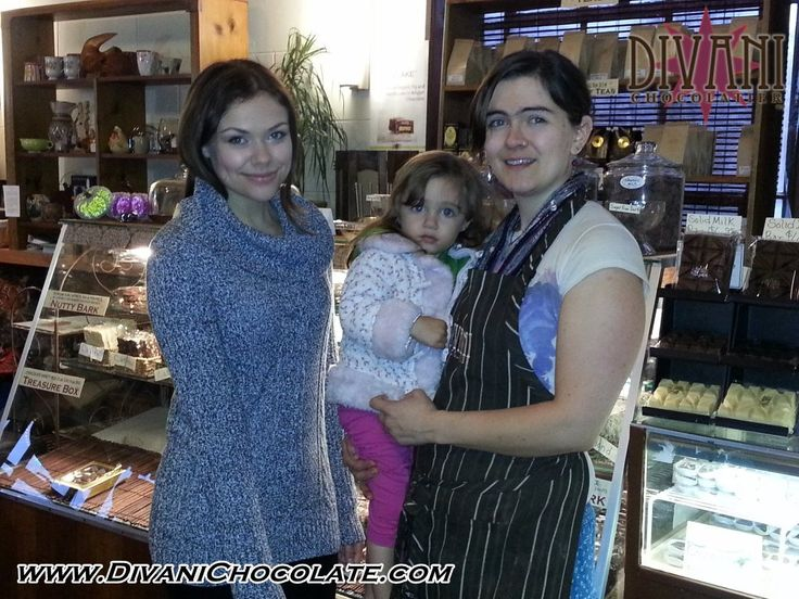Another celebrity visit! Meet Noell Coet who stopped by our shop for a little chocolate fix between shoots of her upcoming movie, Within The Dark, being filmed in Clarion. Photo taken on 11-12-2013 She also made a guest appearance on 11-13-2013 episode of CSI.
