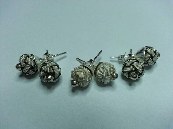 Handmade silver earrings(kazaziye)