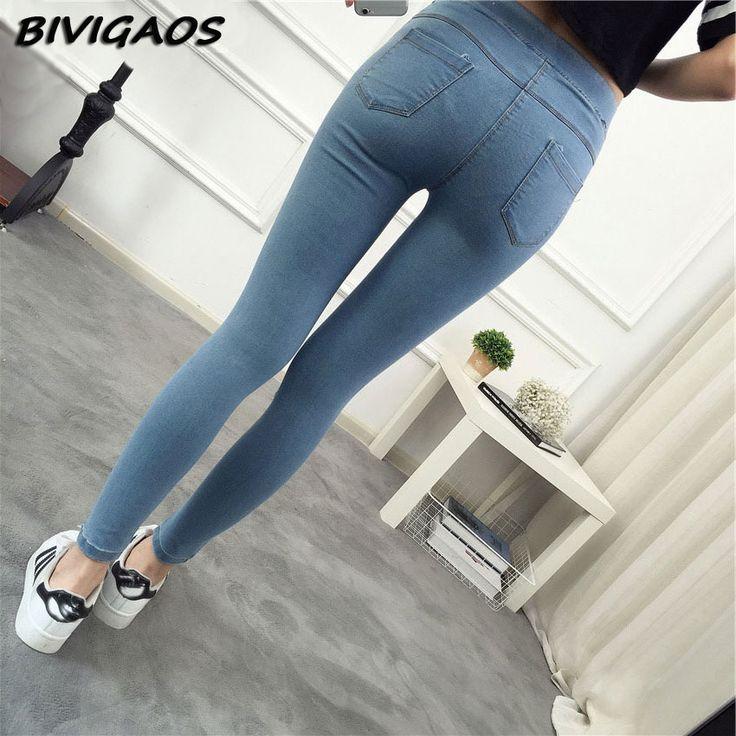 2017 אביב חדש סקיני בסיסיים קרסול ג 'ינס נשים תשעה מכנסיים Slim מכנסיים ג' ינס אלסטיים ג 'ינס Jeggings חותלות נקבה כותנה נשים