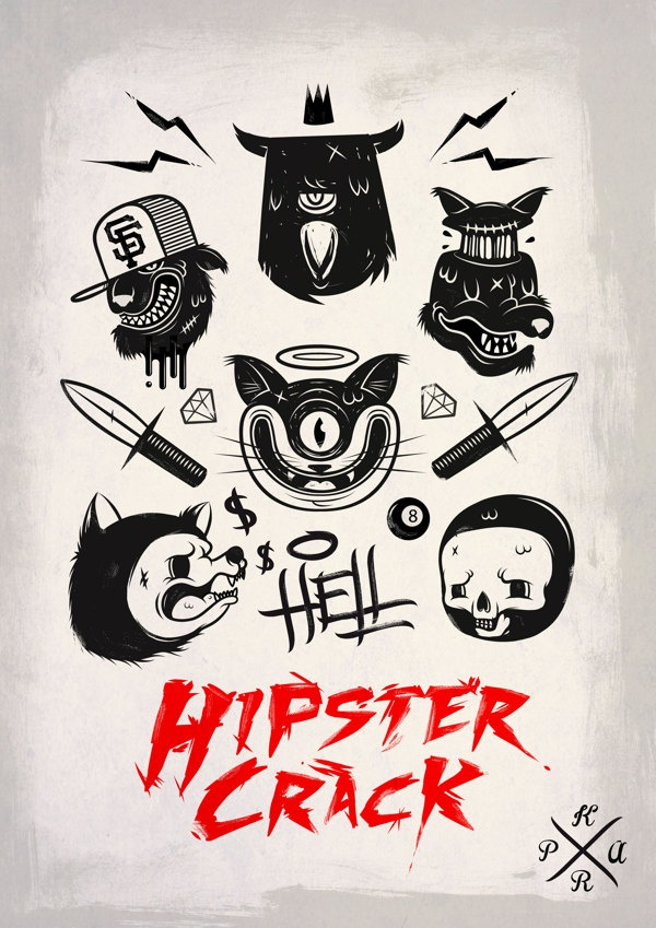 Hell Hipster crack by guenneguez Jérémy, via Behance
