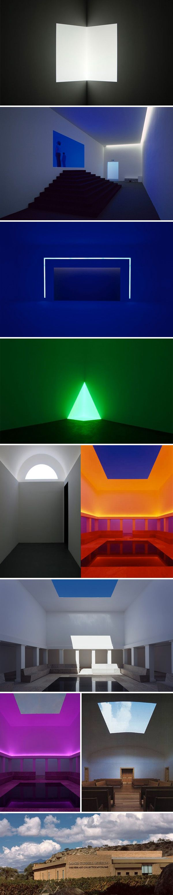 James Turrell Museum's excellent exposition exploring interactions between light and space.