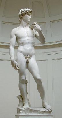 Escultura Cinquecento: David de Miguel Angel (1501-1504) Galeria de la Academia. Florencia. Italia