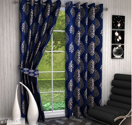 Curtains Sheers Trendy Polyester Printed Window Curtain