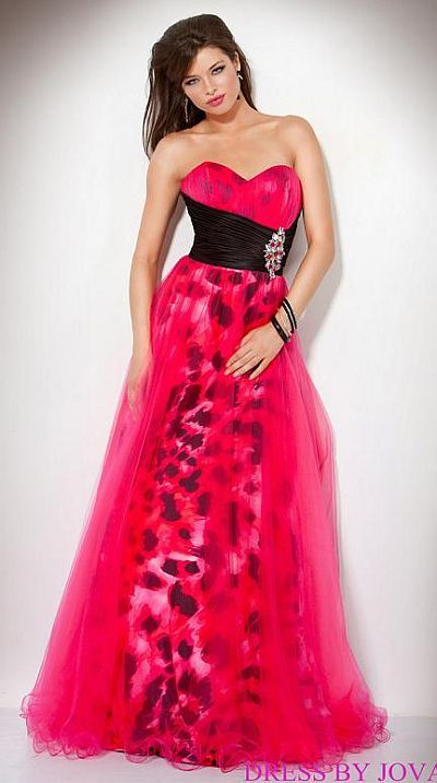 Jovani Beyond Fuchsia Animal Print Prom Dress B384 at frenchnovelty.com wow that's some bright color