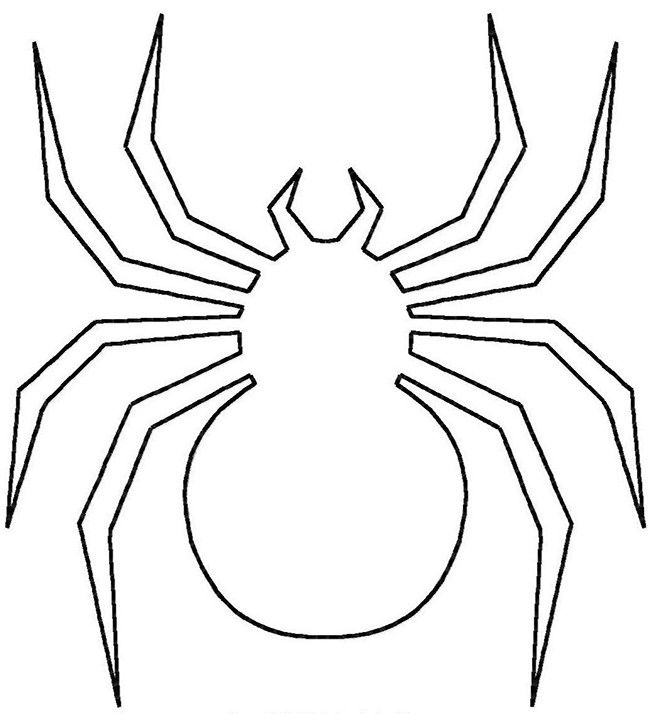 55+ Spider Shape Templates, Crafts & Colouring Pages