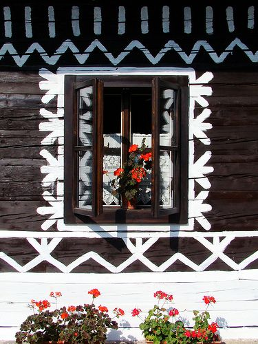 window in Cicmany, Slovakia