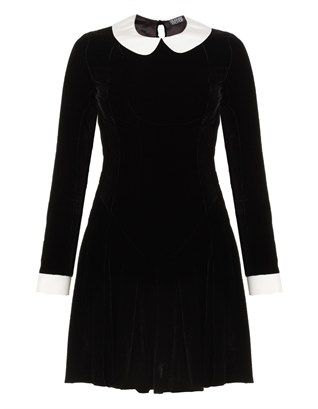 Black Velvet Ophelia Dress Meadham Kirchhoff
