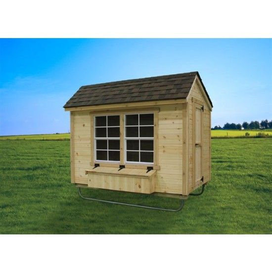 Amish EZ Fit 5u0027 X 8u0027 Chicken Coop Kit With Barn Siding