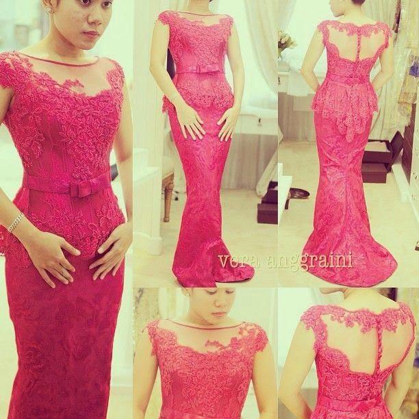 kebaya+brocade+mermaid+tail+vera+sweet+pink+kebaya.jpg (612×612)