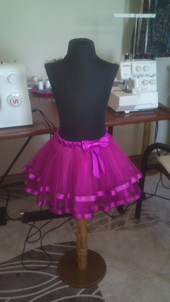 Children's skirt tutu light purple tulle for girl of 5-6