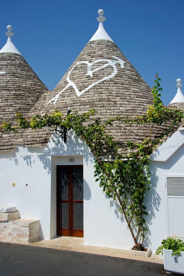 "The typical ""Trulli"" houses of Alberobello"
