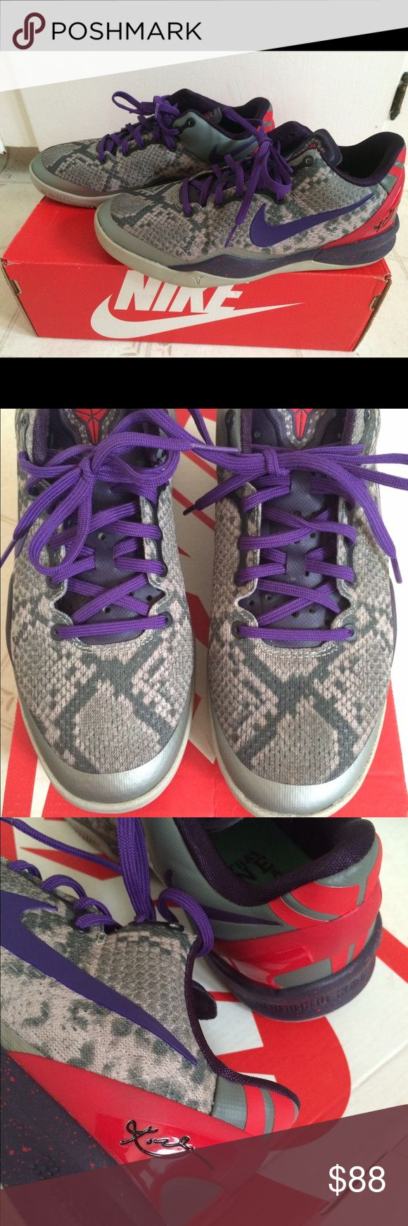 Nike Kobe's Size 5 Youth 37.5 Euro Gently worn. Limited edition Kobe's with signature. Do not have original box. Size 5Y or 37.5 euro which I believe is a 6.5 /7 in ladies. Excellent Condition. Nike Shoes Athletic Shoes