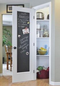 Jeldwen chalk doors for pantry, I actually did this in my garage by our refrigerator.    Love it.
