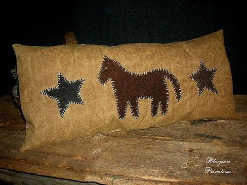 Horse N Stars Pillow Pine Shaving Filled