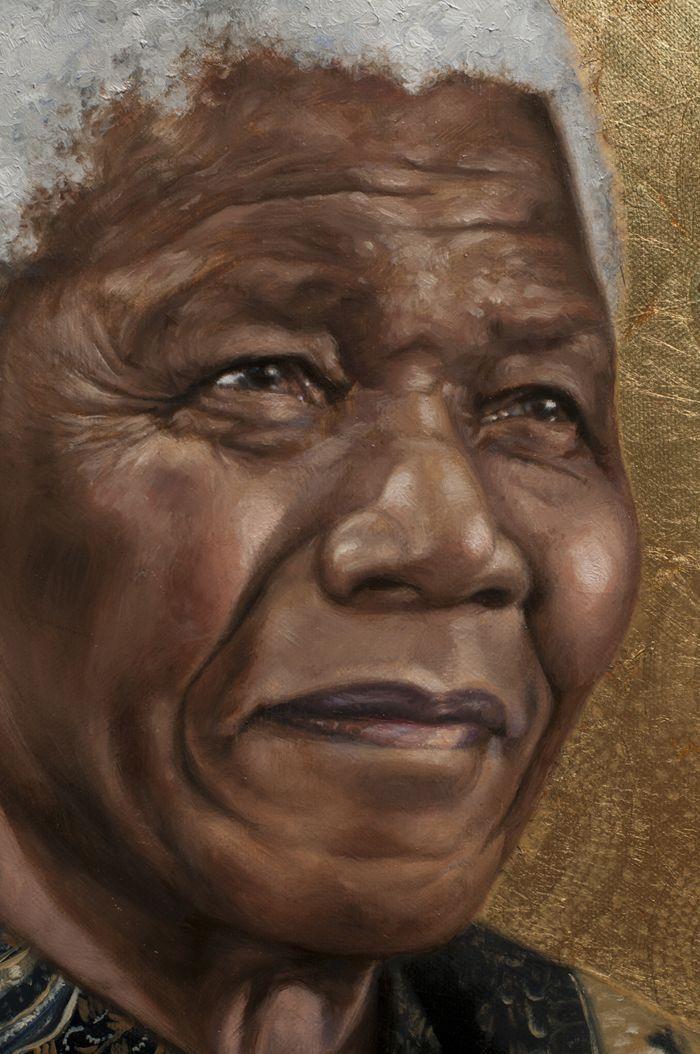 Nelson Mandela #painting by Sara Golish