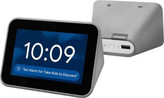 Lenovo Smart Clock with Google Assistant Gray ZA4R…