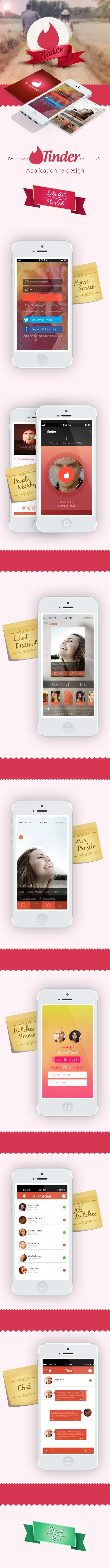 Tinder Redesign for iOS and Android on Behance