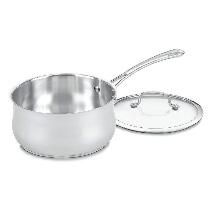 Cuisinart Contour 3-qt. Stainless Steel Saucepan, Grey