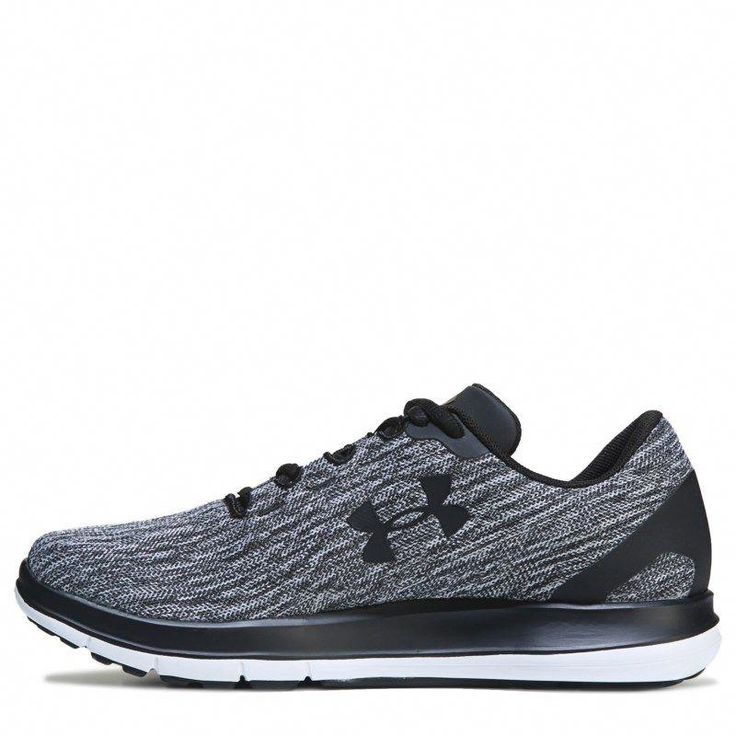 Under Armour Women's Remix Running Shoes (Black/White) #trailrunningshoes