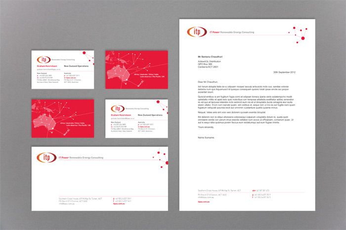 IT Power Banner, business card, letterhead and with comps slip design http://www.spectrumgraphics.com.au/