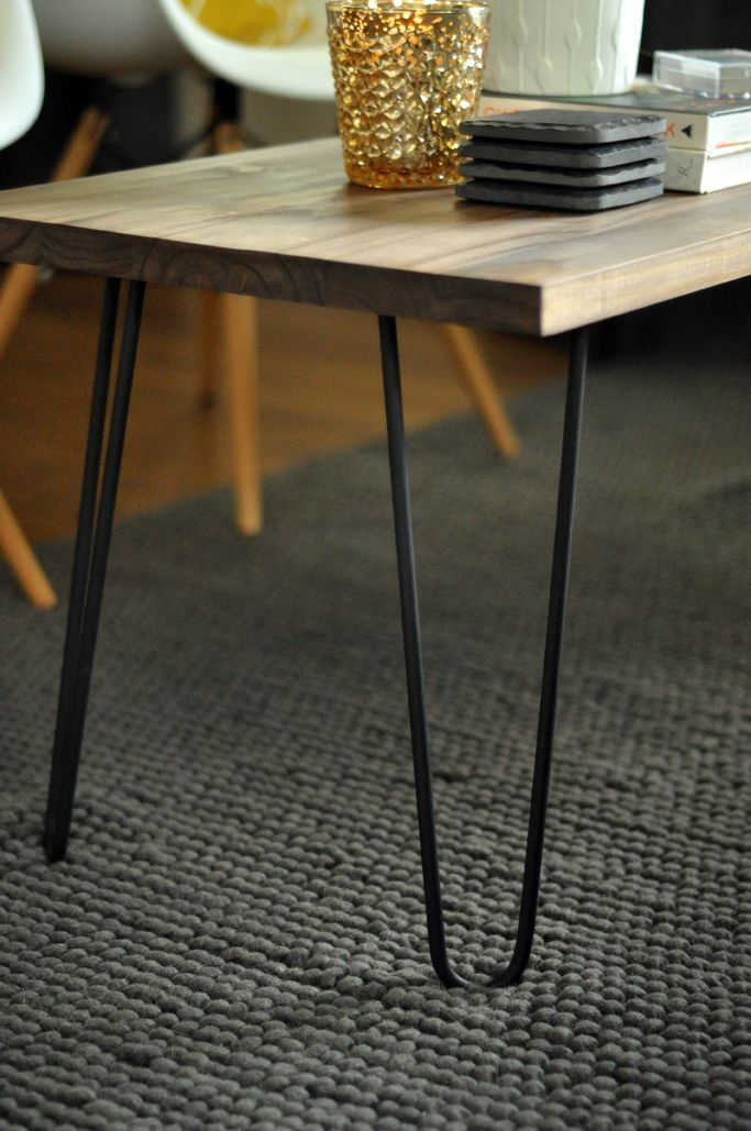 DIY Hairpin Leg Coffee Table by Retro Menagerie
