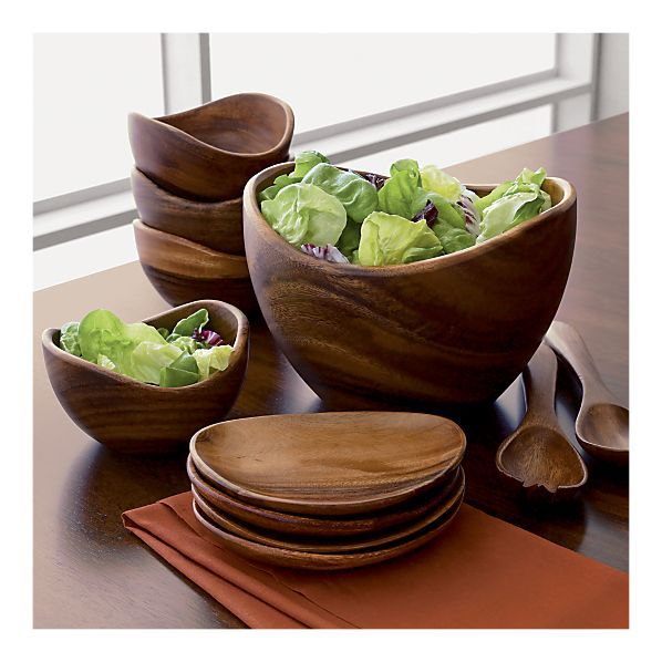 Acacia Bowls from Crate and Barrel