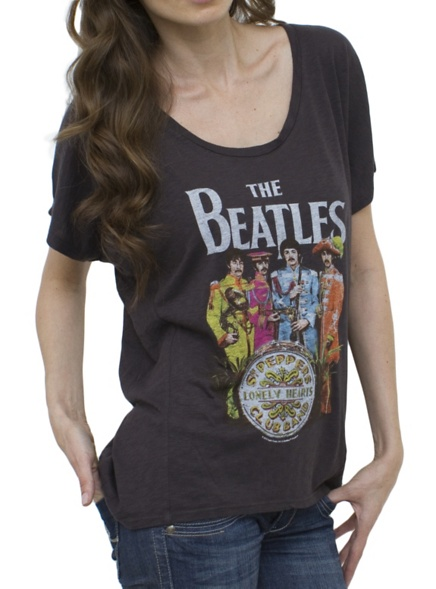 The Beatles Vintage Inspired Drifter Dolman - - Junk Food Clothing