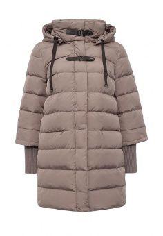 Пуховик, Baon, цвет: бежевый. Артикул: BA007EWLOC36. Женская одежда / Верхняя одежда / Пуховики и зимние куртки