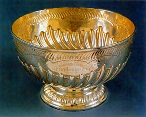 Original silver cup presented by Lord Frederick Stanley, 16th Earl of Derby and 6th Governor General of Canada under the monarchy of Queen Victoria.