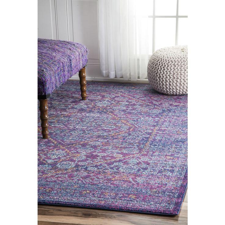 nuLOOM Persian Mamluk Diamond Purple Rug (5' x 7'5)