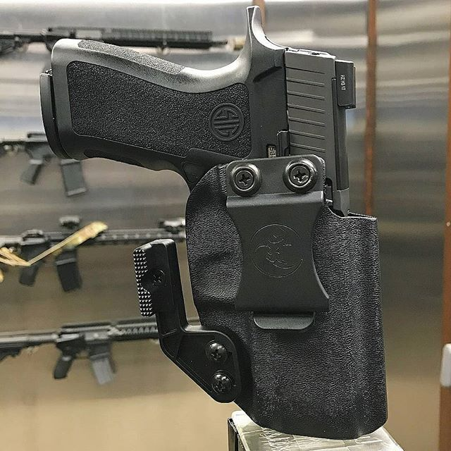 @sigsaueracademy with  Look what just arrived at the SIG SAUER Academy Pro Shop!  We are excited to now carry the AIWB line of holsters from @anrdesignllc for SIG SAUER handguns.  These next gen holsters feature the new Mod Wing offset arms which drive the butt of the gun in-line with the shooters body drastically increasing concealabilty.  All non light-bearing configurations of the P320 as well as P229 and P226 are currently available.  Come try one on and see for yourself! #SIGSAUER…