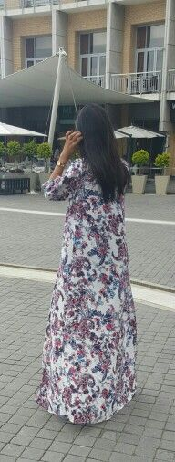 Long elegant floral coat by jilbaab