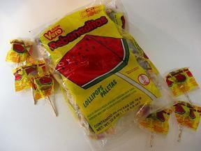 Vero Rebanaditas Paletas / Hot Watermelon Lollipops - Mexican Candy