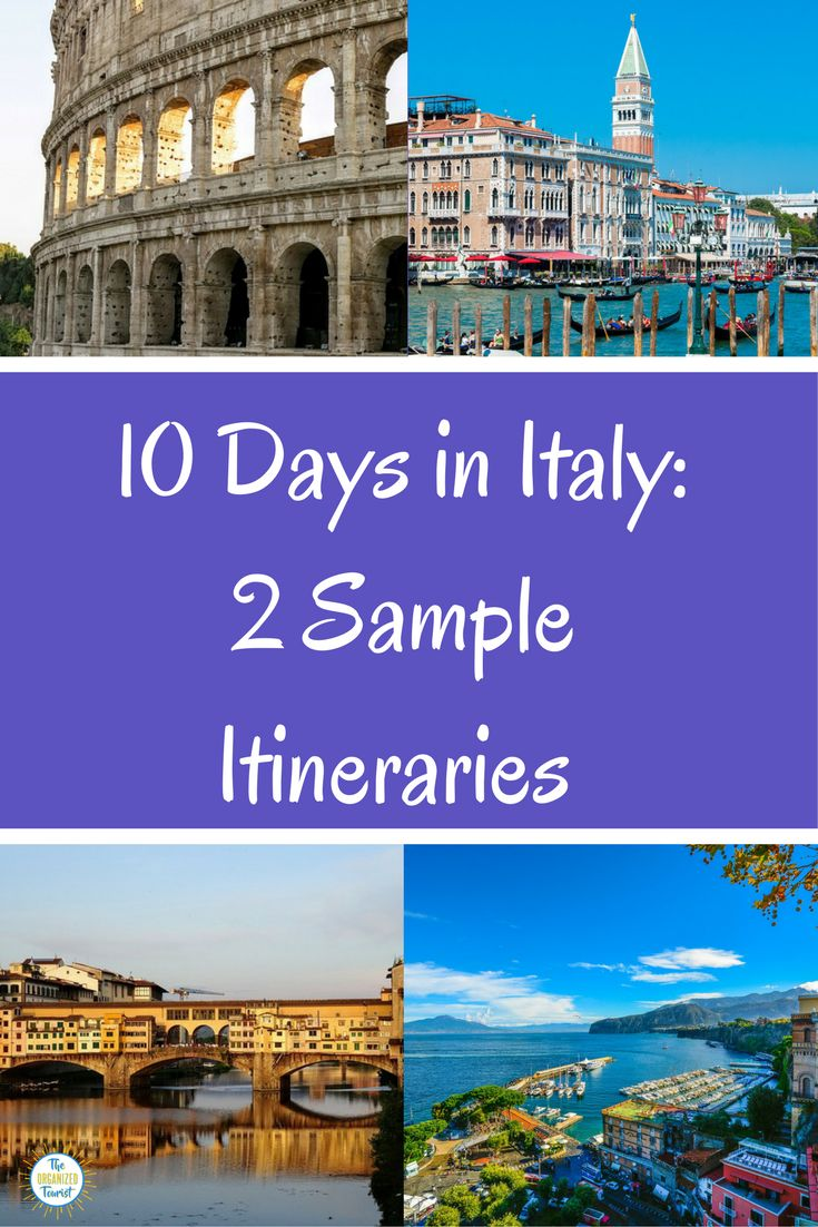 10 days in Italy! Here are 2 sample 10-day itineraries to spark your imagination and help you plan your trip. Of course, I can plan it for you as well! #italy #itineraries