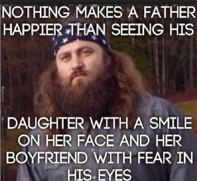Brilliant. Dad's protect your daughters as they will find someone who treats them exactly as you do.