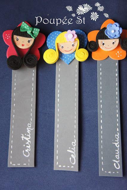 Poupée ST: GOMA EVA: Personalised bookmarks