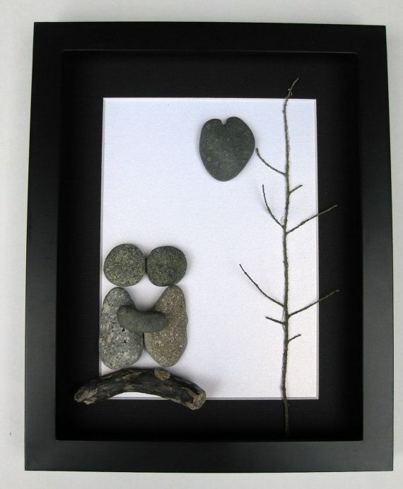 Unique Engagement Gift- Personalized Couple's Christmas Gift -  Pebble Art - Gifts For Men on Etsy, $80.00 CAD