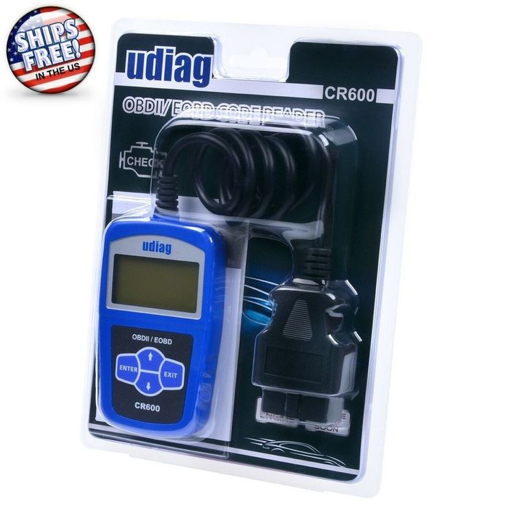 Universal OBD2 Scanner CR600 Vehicle Engine Auto Clear Error Code Reader Blue #udiag