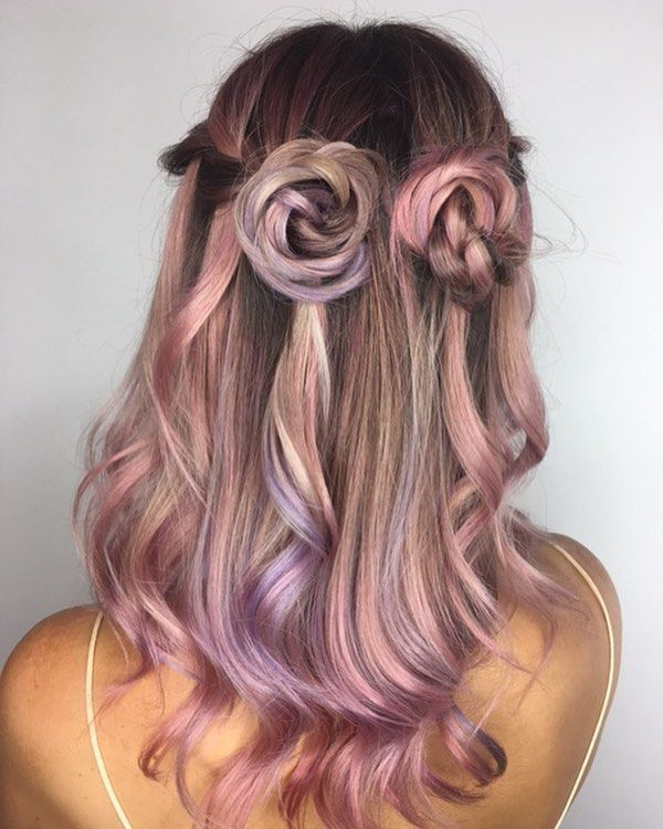 Dusty pearl hair @elissawolfe used AESTHETIC at the roots, and alternated CLOUD and KAWAII through the mid/ends! Would you wear this color combo?