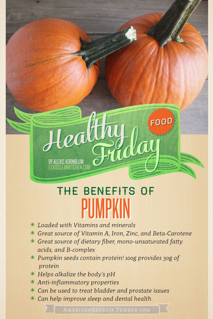 Benefits of Pumpkin.....Loaded with health benefits and super delicious, pumpkin is the perfect in-season ingredient.