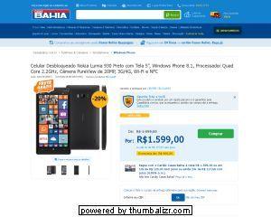 [Casas Bahia] Celular Desbloqueado Nokia Lumia 930 Preto com Tela 5, Windows Phone 8.1, Processador Quad Core 2.2GHz, Câmera PureView de…