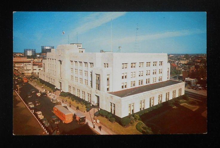 1940s Post Office and Federal Building Old Cars Allied Moving Truck Norfolk VA   eBay