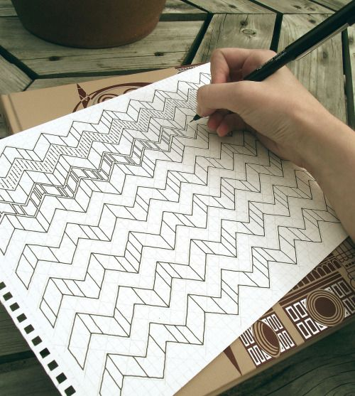 How Rebecca Blair puts together her zig-zag patterns