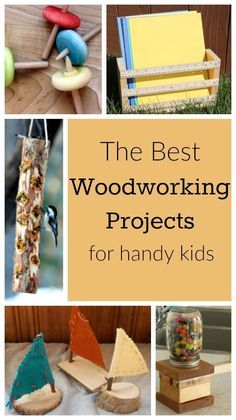 These are great woodworking projects for kids! Perfect for summer holidays - love little kids using tools!
