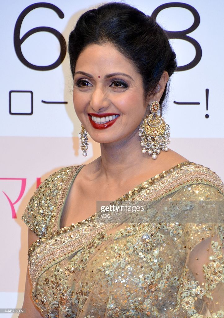 Bollywood actress Sridevi attends a press conference as she promotes film 'English Vinglish' on May 29, 2014 in Tokyo, Japan.