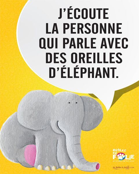 Affiche - Éléphant, collection à l'école de Mélanie